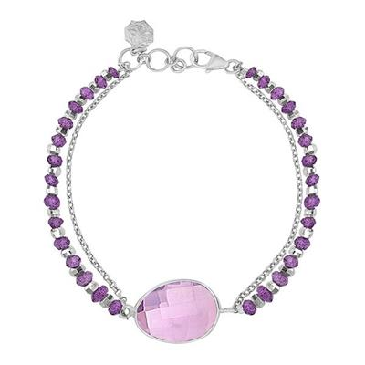 Buy Dower and Hall Sterling Silver Faceted Bead and Amethyst Orissa Bracelet