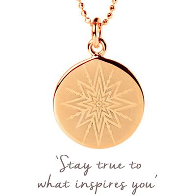 Buy Mantra Inspiring Star Disc Necklace in Rose Gold