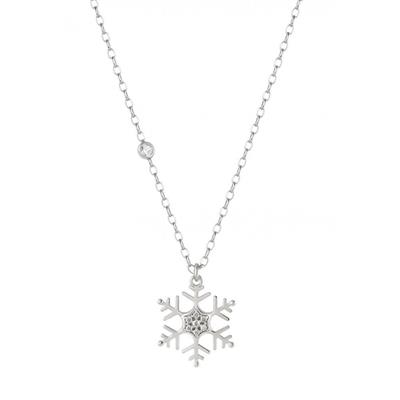 Buy Nomination Silver CZ Small Snowflake Necklace