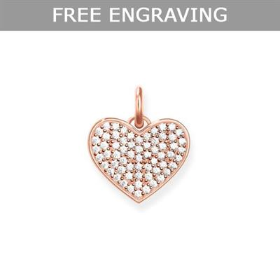 Buy Thomas Sabo Rose Gold CZ Pave Heart Pendant