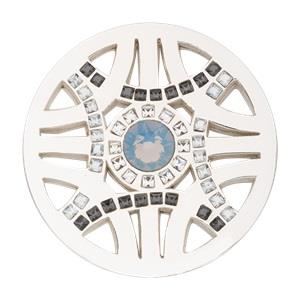 Buy Nikki Lissoni Silver Swarovski Royal Chic Coin 33mm