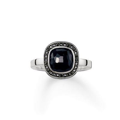 Buy Thomas Sabo The Secret of Cosmo Onyx Ring Size 54
