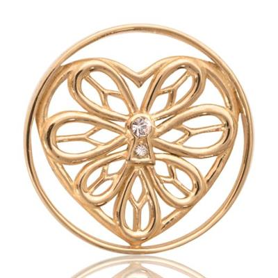 Buy Nikki Lissoni Yellow Gold Peaceful Heart Coin 33mm