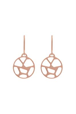 Buy Les Georgettes Rose Gold Girafe Round Drop Earrings