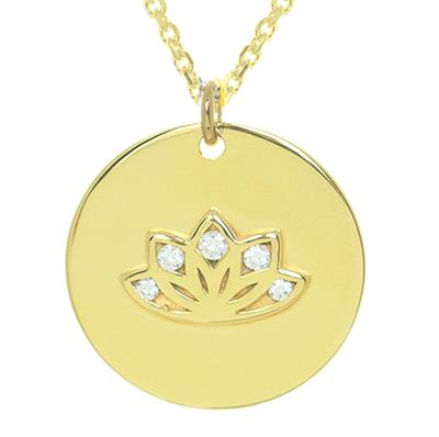 Buy MyMantra Multi CZ Lotus Gold Personalised Necklace 80cm