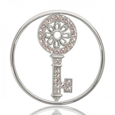 Buy Nikki Lissoni Silver Key To My Heart Coin 33mm