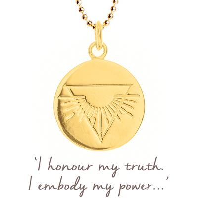 Buy Mantra Nicky Clinch Warrior Disc Necklace in Gold