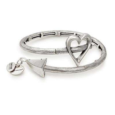 Buy Alex and Ani Cupid's Arrow Wrap Rafaelian Silver