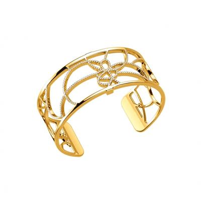 Buy Les Georgettes Medium Gold CZ Petales Cuff Bangle