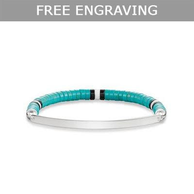 Buy Thomas Sabo Love Bridge Turquoise Beaded Engravable Bracelet
