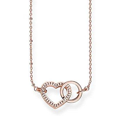 Buy Thomas Sabo Rose Gold Together Heart Necklace