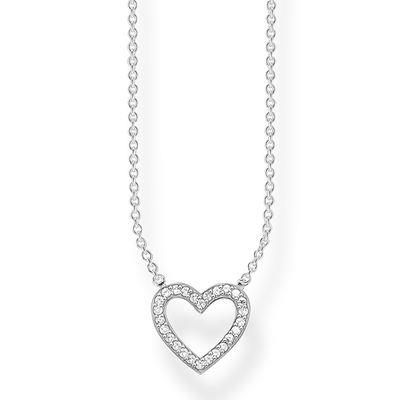 Buy Thomas Sabo CZ Open Heart Silver Necklace