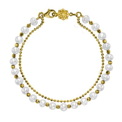 Buy Dower and Hall 18ct Gold Vermeil Pearl Orissa Bracelet