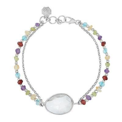 Buy Dower and Hall Sterling Silver Faceted Bead and Multi Stone Orissa Bracelet