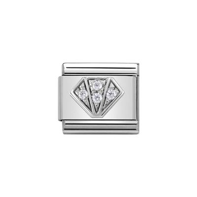 Buy Nomination Silver CZ Diamond Charm