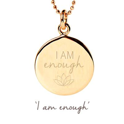 Buy Mantra I Am Enough Necklace in Gold