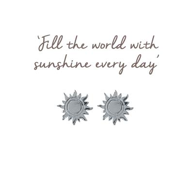 Buy Mantra Sun Stud Earrings in Sterling Silver