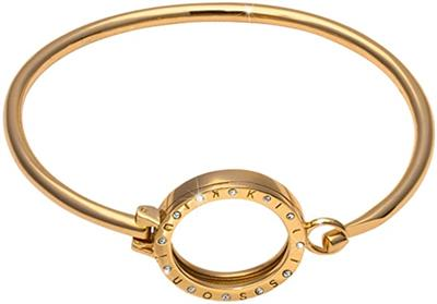 Buy Nikki Lissoni Gold and Crystal Small Coin Carrier Bracelet 19cm