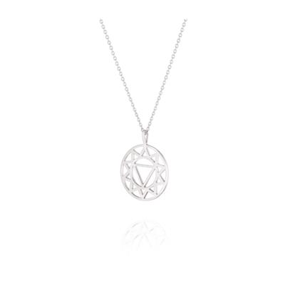 Buy Daisy Solar Plexus Chakra Silver Long Necklace