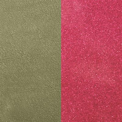 Buy Les Georgettes Wide Aloe Khaki / Pink Sparkle Leather