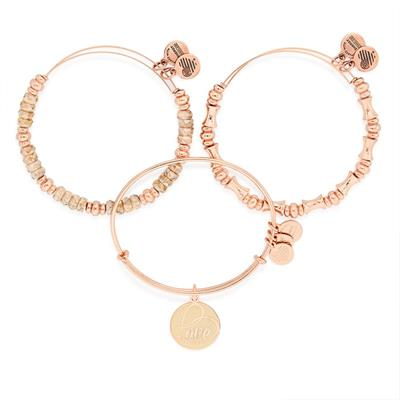 Buy Alex and Ani Hooked on You, Love Set in Shiny Rose Gold