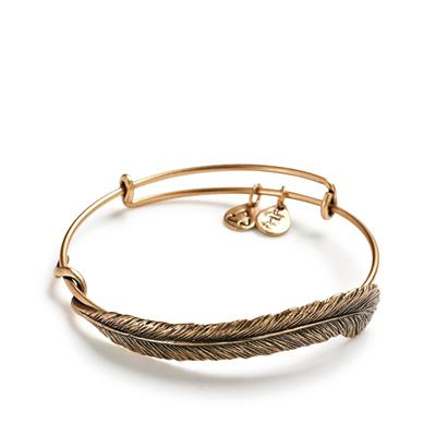 Buy Alex and Ani Plume Feather Wrap in Rafaelian Gold Finish