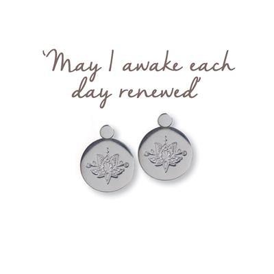 Buy Mantra Lotus Renewed Earrings in Silver
