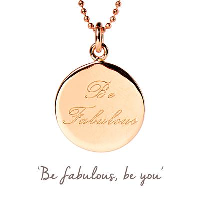 Buy Be Fabulous Mantra Necklace in Rose Gold