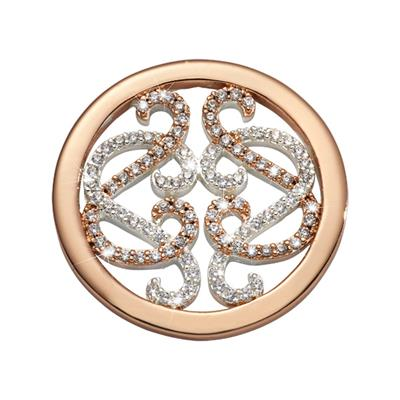 Buy Nikki Lissoni Rose Gold Embrace Lace Coin 23mm
