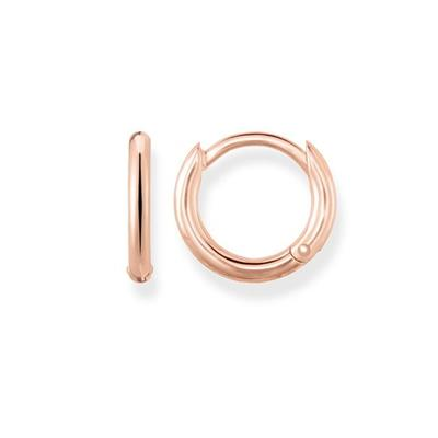 Buy Thomas Sabo Small Rose Gold Hinged Hoop Earrings