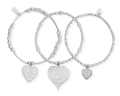 Buy ChloBo Love Always Wins Set of 3 Bracelets