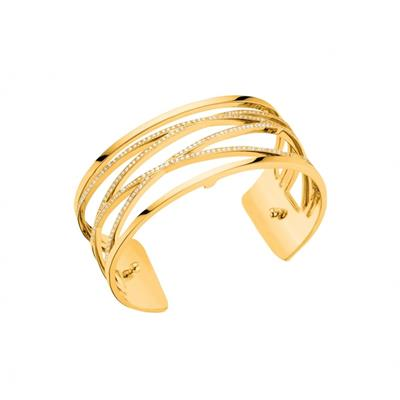 Buy Les Georgettes Gold CZ Liens Medium Cuff