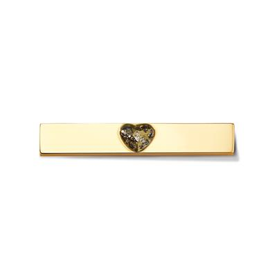 Buy Take What You Need Gold Toned Swarovski Heart Bar