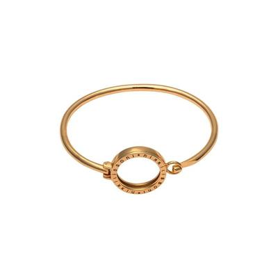 Buy Nikki Lissoni Yellow Gold Bangle with Small Carrier 17cm