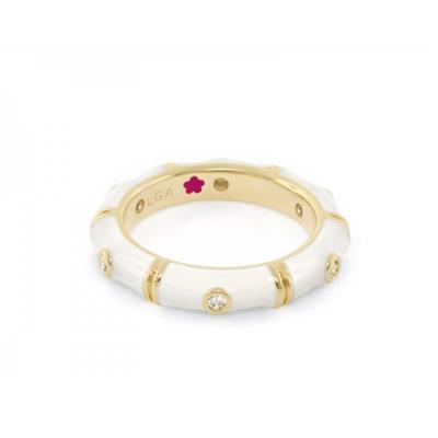 Buy Lauren G Adams Tiny Dots, White and Gold Ring Size 8