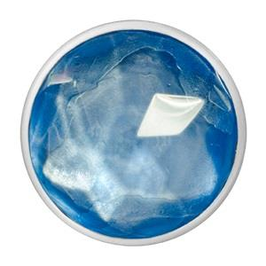 Buy Nikki Lissoni Silver Blue Optical Glass Medium Coin 33mm