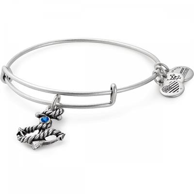 Buy Alex and Ani Anchor bangle in Rafaelian Silver Finish