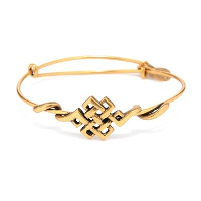 Buy Alex and Ani Endless Knot Wrap in Rafaelian Gold Finish