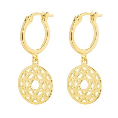 Buy Daisy Heart Chakra Gold Drop Earrings