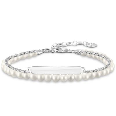 Buy Thomas Sabo Silver Pearl Double Love Bridge Bracelet 19cm