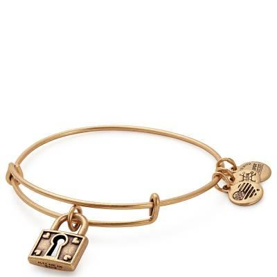 Buy Alex and Ani Unbreakable Love Bangle in Rafaelian Gold