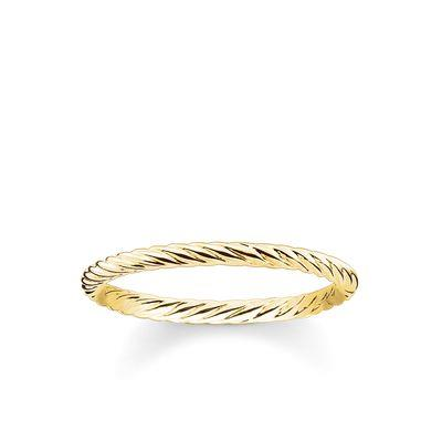 Buy Thomas Sabo Gold Twist Ring 54