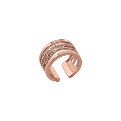 Buy Les Georgettes Rose Gold CZ Liens Ring 54