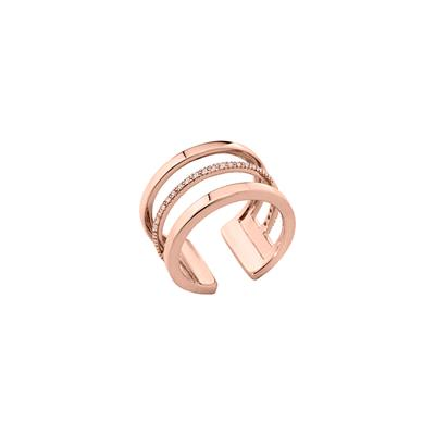 Buy Les Georgettes Rose Gold CZ Parallel Ring 58