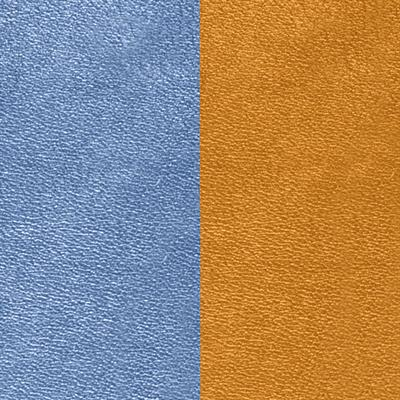 Buy Les Georgettes Wide Denim Blue / Canyon Orange Leather