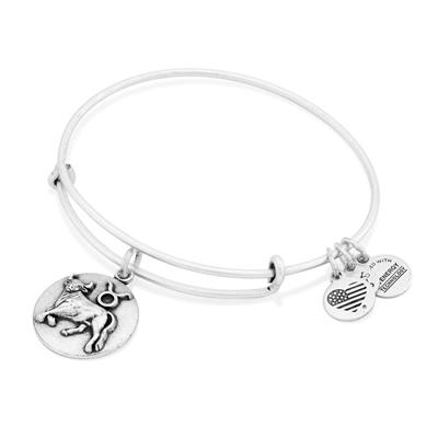 Buy Alex and Ani Taurus Disc Bangle in Rafaelian Silver Finish