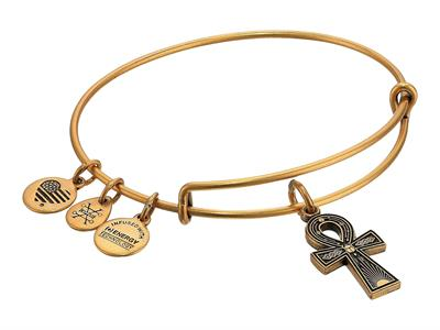 Buy Alex and Ani Ankh Bangle in Rafaelian Gold