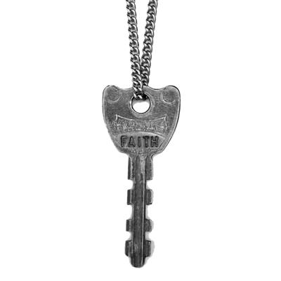 "Buy Giving Keys FAITH Classic Silver 36"" Key Necklace"