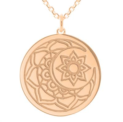 Buy MyMantra Moon and Sun myMantra Necklace in Rose Gold