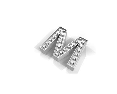 Buy Key Moments Silver Crystal Letter M